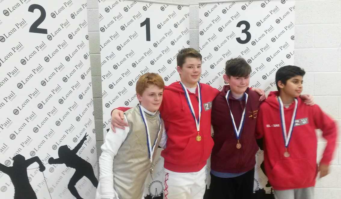 Nicholas Williams on medal podium for LPJS competition 21st February 2016